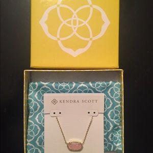 Kendra Scott Elisa Pink Druzy Necklace